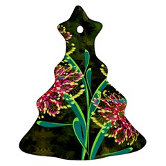 Flowers Abstract Decoration Christmas Tree Ornament (Two Sides)