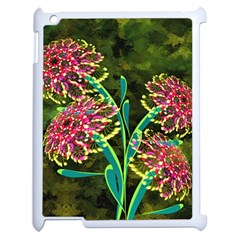 Flowers Abstract Decoration Apple iPad 2 Case (White)