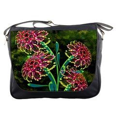 Flowers Abstract Decoration Messenger Bags