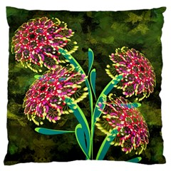 Flowers Abstract Decoration Large Cushion Case (Two Sides)