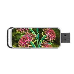 Flowers Abstract Decoration Portable USB Flash (Two Sides)