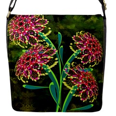 Flowers Abstract Decoration Flap Messenger Bag (S)
