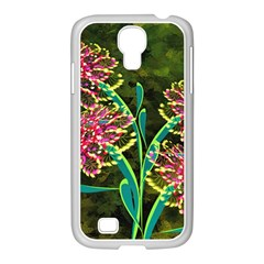 Flowers Abstract Decoration Samsung GALAXY S4 I9500/ I9505 Case (White)