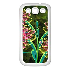 Flowers Abstract Decoration Samsung Galaxy S3 Back Case (White)
