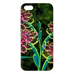 Flowers Abstract Decoration Iphone 5s/ Se Premium Hardshell Case