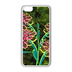 Flowers Abstract Decoration Apple Iphone 5c Seamless Case (white)
