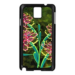 Flowers Abstract Decoration Samsung Galaxy Note 3 N9005 Case (black)