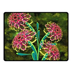 Flowers Abstract Decoration Double Sided Fleece Blanket (Small)