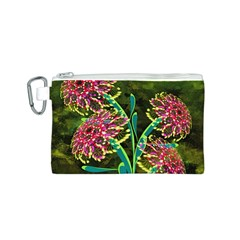 Flowers Abstract Decoration Canvas Cosmetic Bag (S)