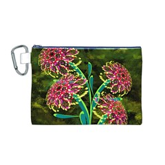 Flowers Abstract Decoration Canvas Cosmetic Bag (m)