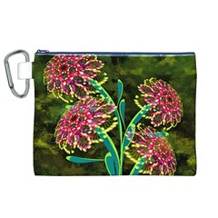 Flowers Abstract Decoration Canvas Cosmetic Bag (XL)
