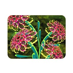 Flowers Abstract Decoration Double Sided Flano Blanket (Mini)