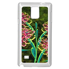 Flowers Abstract Decoration Samsung Galaxy Note 4 Case (white)