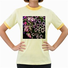 Flowers Blossom Bloom Plant Nature Women s Fitted Ringer T Shirts