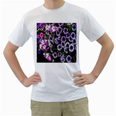 Flowers Blossom Bloom Plant Nature Men s T-Shirt (White) (Two Sided)