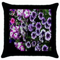 Flowers Blossom Bloom Plant Nature Throw Pillow Case (Black)