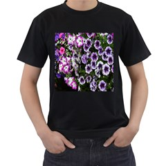 Flowers Blossom Bloom Plant Nature Men s T-Shirt (Black) (Two Sided)