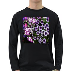 Flowers Blossom Bloom Plant Nature Long Sleeve Dark T-Shirts