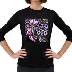 Flowers Blossom Bloom Plant Nature Women s Long Sleeve Dark T-Shirts