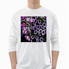 Flowers Blossom Bloom Plant Nature White Long Sleeve T-Shirts