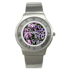 Flowers Blossom Bloom Plant Nature Stainless Steel Watch