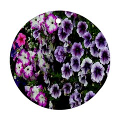 Flowers Blossom Bloom Plant Nature Round Ornament (Two Sides)