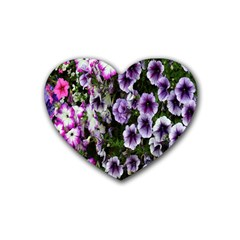 Flowers Blossom Bloom Plant Nature Rubber Coaster (Heart)