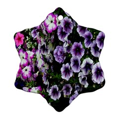 Flowers Blossom Bloom Plant Nature Snowflake Ornament (two Sides)