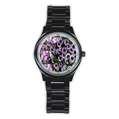 Flowers Blossom Bloom Plant Nature Stainless Steel Round Watch