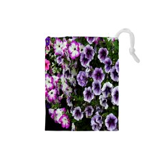 Flowers Blossom Bloom Plant Nature Drawstring Pouches (Small)