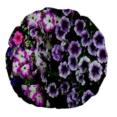 Flowers Blossom Bloom Plant Nature Large 18  Premium Flano Round Cushions