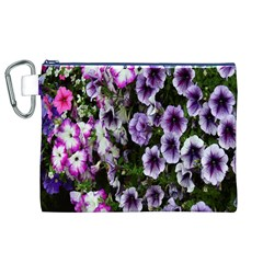 Flowers Blossom Bloom Plant Nature Canvas Cosmetic Bag (xl)