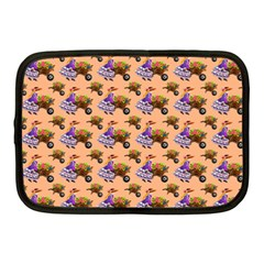 Flowers Girl Barrow Wheel Barrow Netbook Case (Medium)