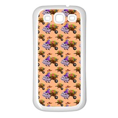 Flowers Girl Barrow Wheel Barrow Samsung Galaxy S3 Back Case (White)