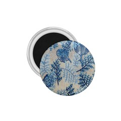 Flowers Blue Patterns Fabric 1.75  Magnets
