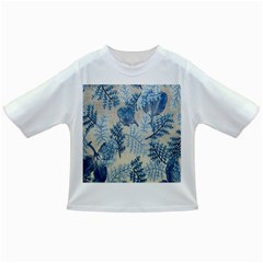Flowers Blue Patterns Fabric Infant/Toddler T-Shirts