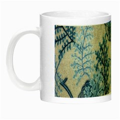Flowers Blue Patterns Fabric Night Luminous Mugs