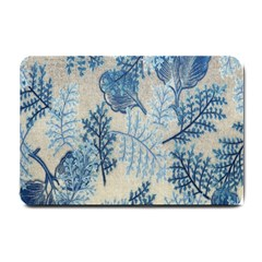 Flowers Blue Patterns Fabric Small Doormat