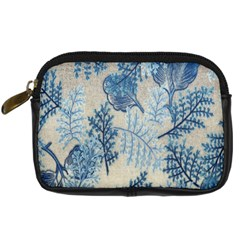 Flowers Blue Patterns Fabric Digital Camera Cases