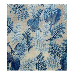 Flowers Blue Patterns Fabric Shower Curtain 66  x 72  (Large)