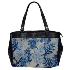 Flowers Blue Patterns Fabric Office Handbags