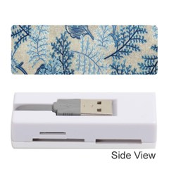 Flowers Blue Patterns Fabric Memory Card Reader (Stick)