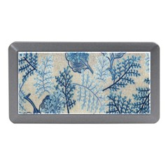 Flowers Blue Patterns Fabric Memory Card Reader (Mini)