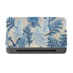 Flowers Blue Patterns Fabric Memory Card Reader with CF
