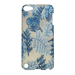 Flowers Blue Patterns Fabric Apple iPod Touch 5 Hardshell Case