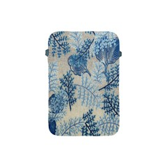 Flowers Blue Patterns Fabric Apple iPad Mini Protective Soft Cases