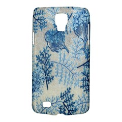 Flowers Blue Patterns Fabric Galaxy S4 Active