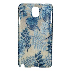 Flowers Blue Patterns Fabric Samsung Galaxy Note 3 N9005 Hardshell Case