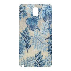 Flowers Blue Patterns Fabric Samsung Galaxy Note 3 N9005 Hardshell Back Case
