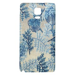 Flowers Blue Patterns Fabric Galaxy Note 4 Back Case